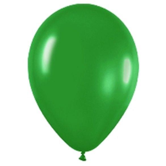 Globos (R-5) de 13 cm aprox Color Verde Selva Solido (100 ud)