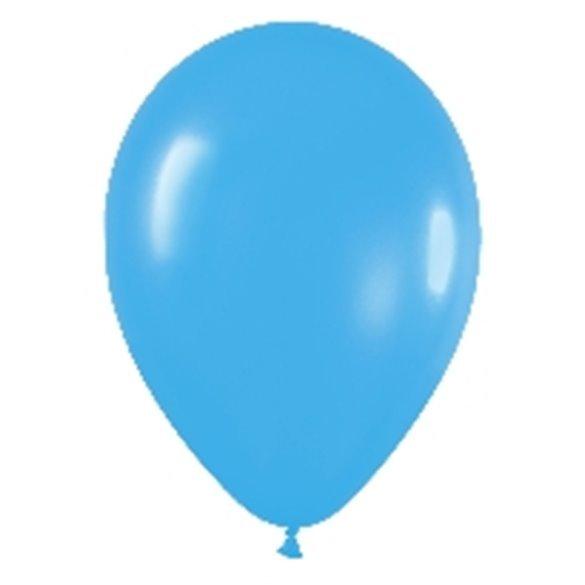 Globos (R-5) de 13 cm aprox Color Azul Solido (100 ud)