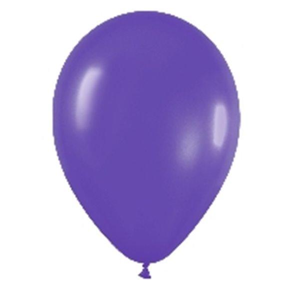 Globos (R-5) de 13 cm aprox Color Violeta Solido (100 ud)