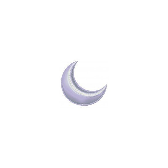 ✅Globo Forma Luna de 66 cm Aprox. Color LILA por solo 3,28€ en Masfiesta.es. Venta de Artículos de fiesta y decoración