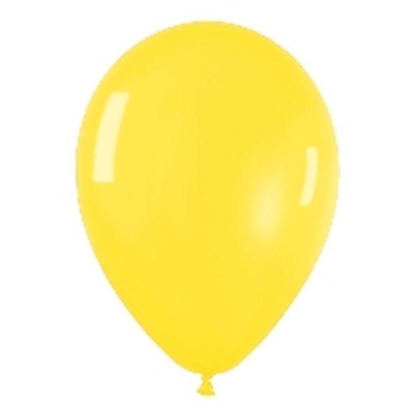 Globos (R-5) de 13 cm aprox Color Amarillo Efecto Metalico-Cristal (100 ud)