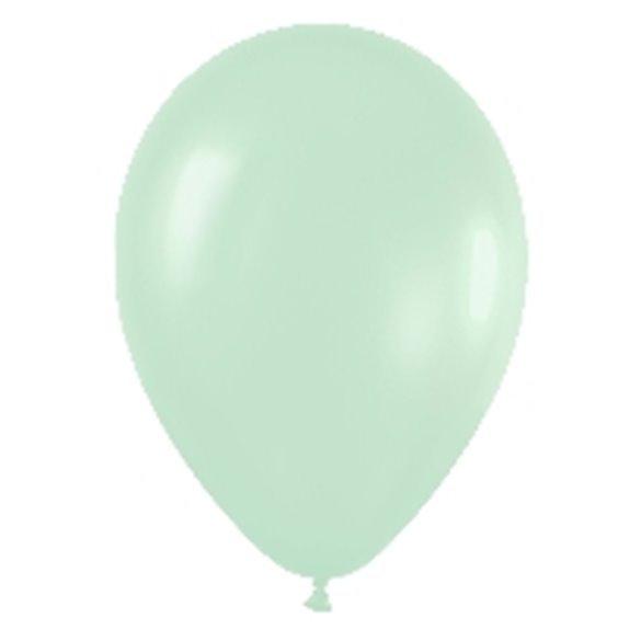 Globos (R-5) de 13 cm aprox Color Verde Satinado (100 ud)