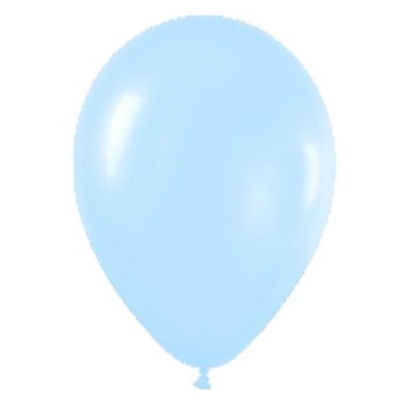Globos (R-5) de 13 cm aprox Color Azul Satinado (100 ud)