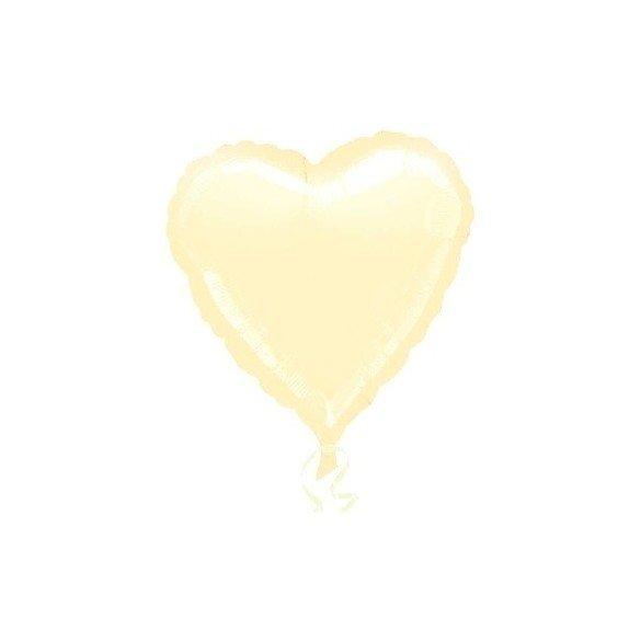 Globo Con Forma de Corazón de Aprox 45cm Color VAINILLA -