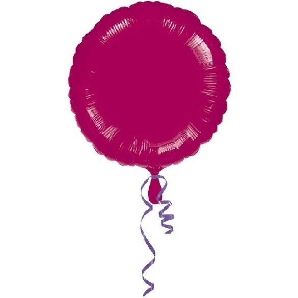 ✅Globo Con Forma de Circulo de Aprox 45cm Color BORGOÑA - por solo 1,35€ en Masfiesta.es. Venta de Artículos de fiesta y dec...