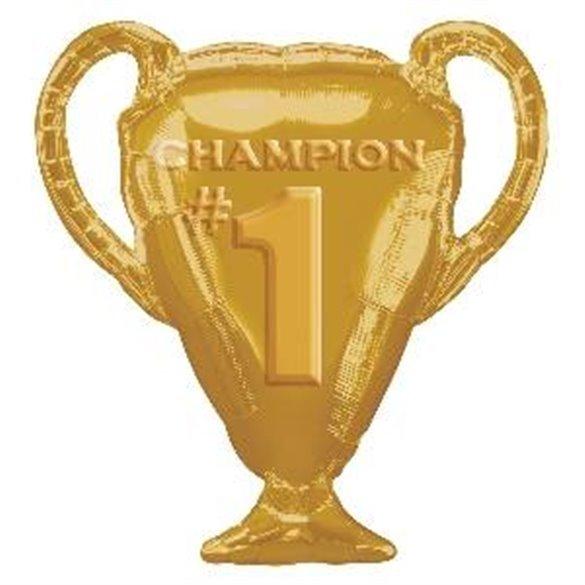 Globo foil Forma Champions futbol (Empaquetado)