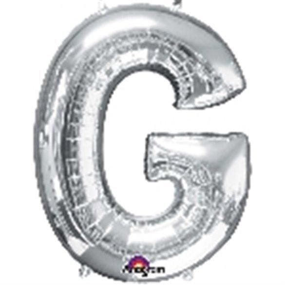 ✅Globo Letra G Gigante, de Color Plata. por solo 5,46€ en Masfiesta.es. Venta de Artículos de fiesta y decoración