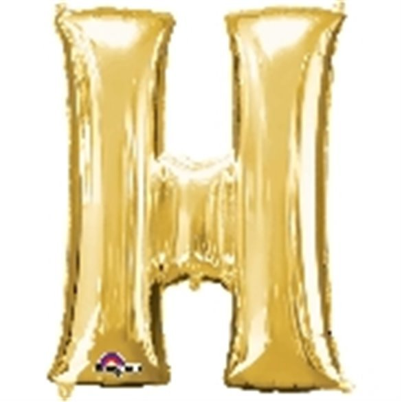 ✅Globo Letra H Gigante, de Color Oro. por solo 5,46€ en Masfiesta.es. Venta de Artículos de fiesta y decoración
