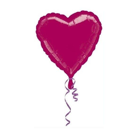 ✅Globo Con Forma de Corazón de Aprox 45cm Color BORGOÑA - por solo 1,35€ en Masfiesta.es. Venta de Artículos de fiesta y dec...
