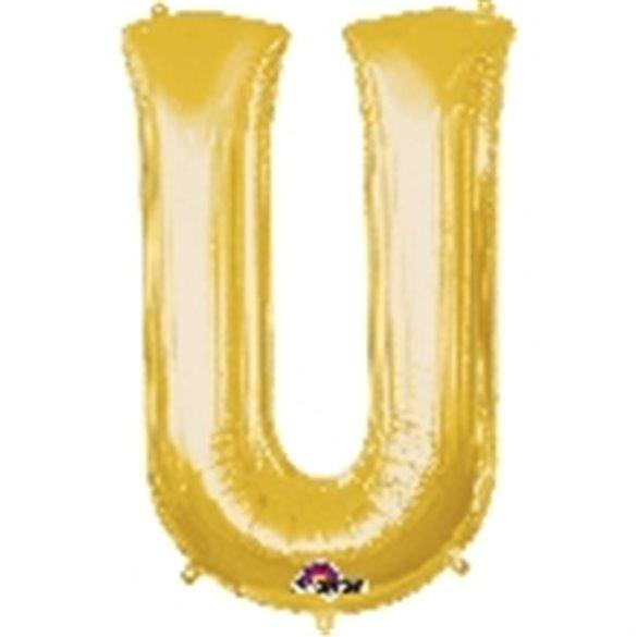 ✅Globo Letra U Gigante, de Color Oro. por solo 5,17€ en Masfiesta.es. Venta de Artículos de fiesta y decoración
