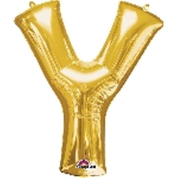 ✅Globo Letra Y Gigante, de Color Oro. por solo 5,17€ en Masfiesta.es. Venta de Artículos de fiesta y decoración
