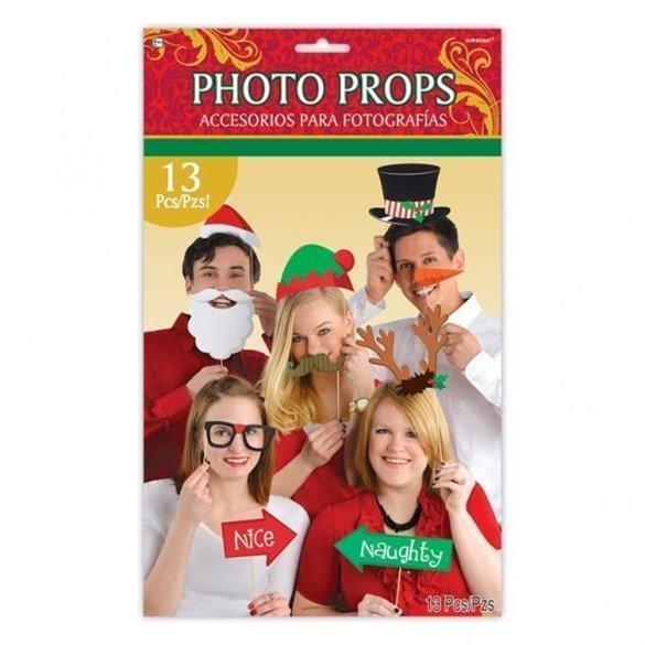 Accesorios Photocall palito Navidad (13 pza)
