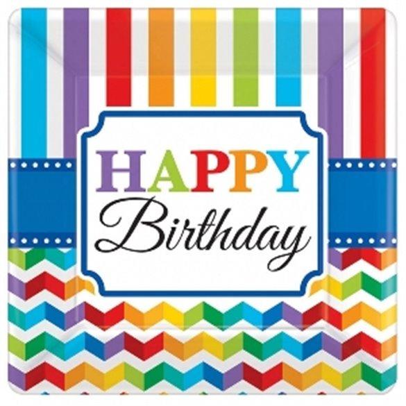 Plato Happy Birthday de 17,7 cm aprox (8)