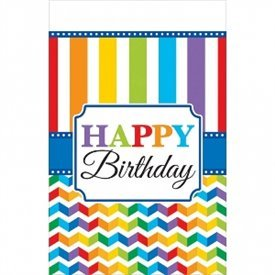 Mantel Happy Birthday Plástico de 1,2 x 1,8 m aprox.571465 Amscan