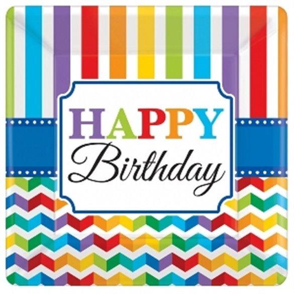 Plato Happy Birthday de 25,4 cm aprox (8)