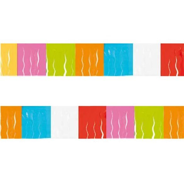 ✅Guirnalda Flecos Plástico Multicolor, (25 Mts) por solo 4,70€ en Masfiesta.es. Venta de Artículos de fiesta y decoración
