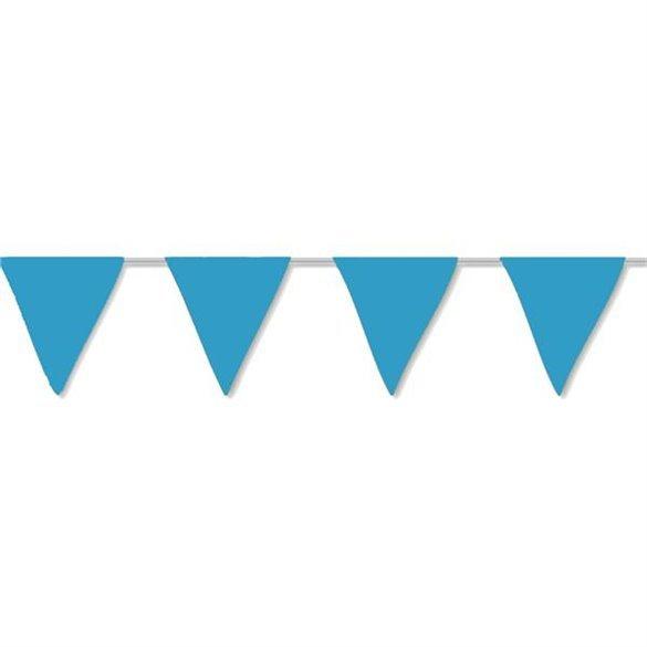 ✅Banderín Triangulo Plástico Color Azul (5Mts) por solo 1,19€ en Masfiesta.es. Venta de Artículos de fiesta y decoración