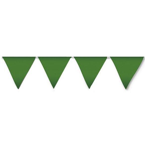 ✅Banderín Triangulo Plástico Color Verde (5Mts) por solo 1,85€ en Masfiesta.es. Venta de Artículos de fiesta y decoración