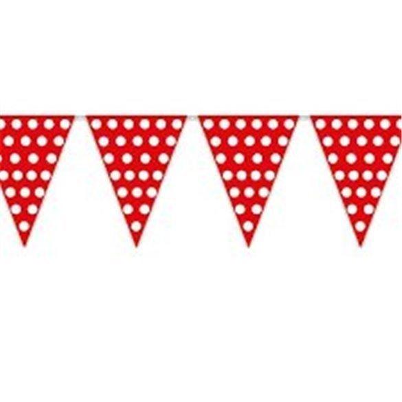 ✅Banderín Triangulo Plástico Color Rojo Lunar Blanco (5 Mts) por solo 1,13€ en Masfiesta.es. Venta de Artículos de fiesta y ...