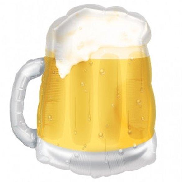 ✅Globo Foil Forma Jarra de Cerveza (Empaquetado) por solo 4,45€ en Masfiesta.es. Venta de Artículos de fiesta y decoración