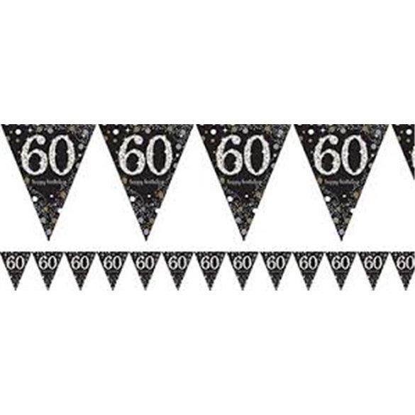 ✅Banderin triangulos 60 Prismatic Plata/oro 4 metros por solo 2,02€ en Masfiesta.es. Venta de Artículos de fiesta y decoración
