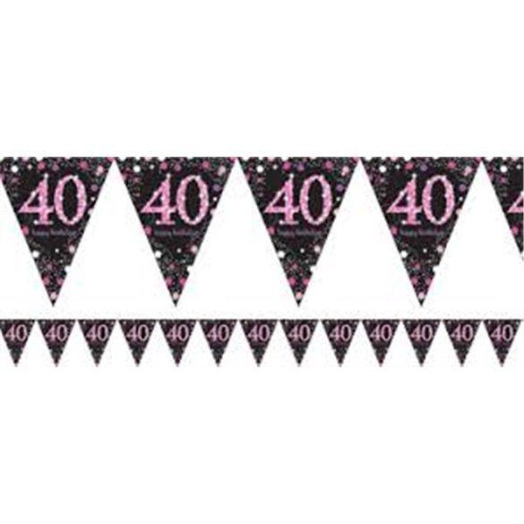 ✅Banderin triangulos 40 Prismatic Rosa 4 metros por solo 2,14€ en Masfiesta.es. Venta de Artículos de fiesta y decoración