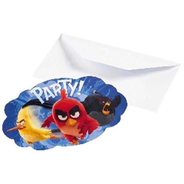 ✅Invitaciones (8) Angry Birds por solo 2,76€ en Masfiesta.es. Venta de Artículos de fiesta y decoración