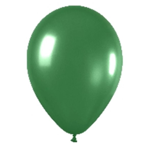 Globos Verde Metalizado R12de 30 cm aprox 50ud