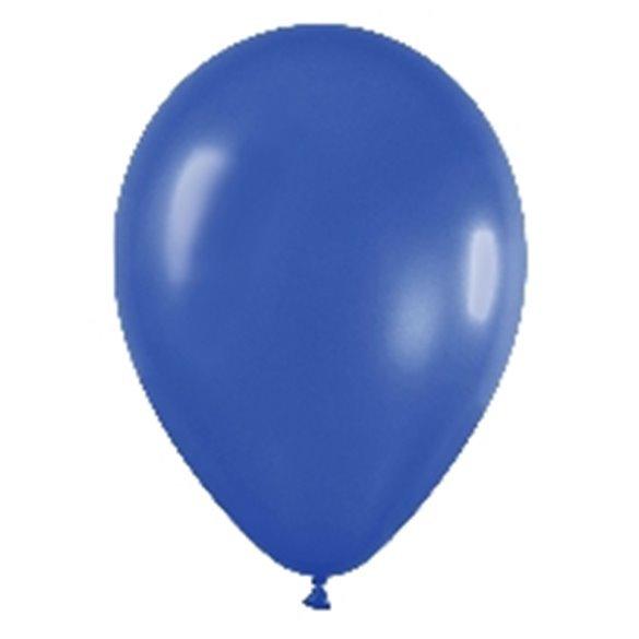 Globos Azul Metalizado R12de 30 cm aprox(50ud)