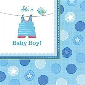 Servilletas Baby shower Boy Blue de 33 cm aprox. (16)