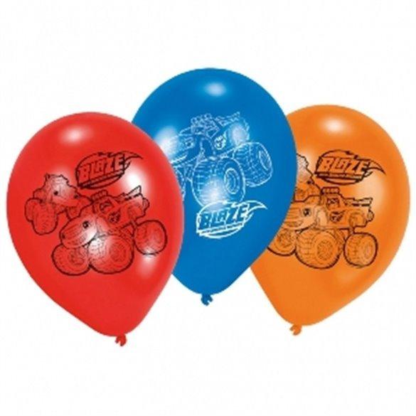 ✅Globos látex (6) Blaze y los Monster Machines por solo 1,42€ en Masfiesta.es. Venta de Artículos de fiesta y decoración