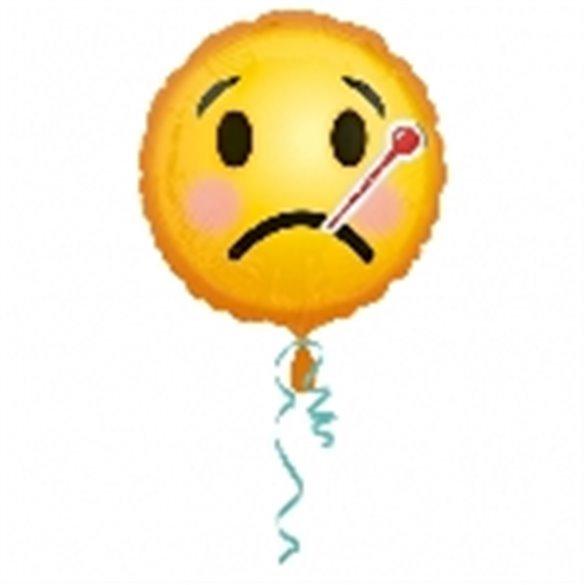 ✅Globo Emoji Enfermo 45 cm ( Empaquetado) por solo 2,84€ en Masfiesta.es. Venta de Artículos de fiesta y decoración