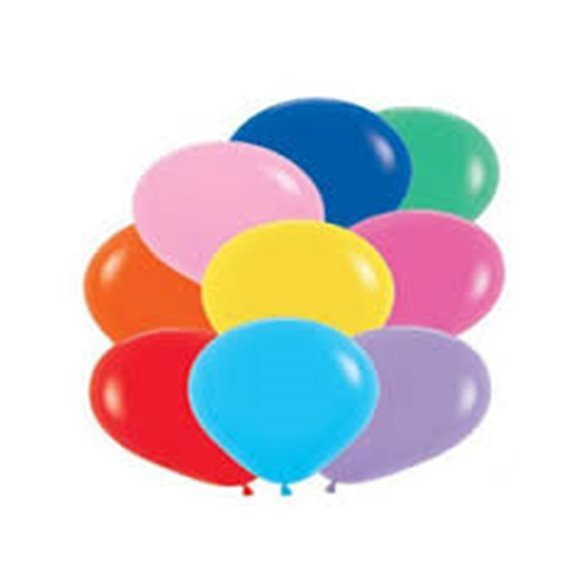 ✅Globos Colores Surtidos Solid Basic R12 de 30 cm aprox(50 ud) por solo 5,62€ en Masfiesta.es. Venta de Artículos de fiesta ...