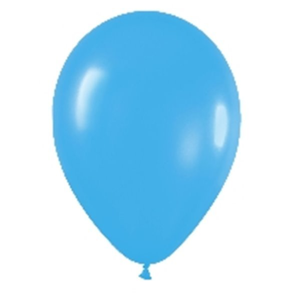 Globos Azul Solido R12 de 30 cm aprox (50 ud)