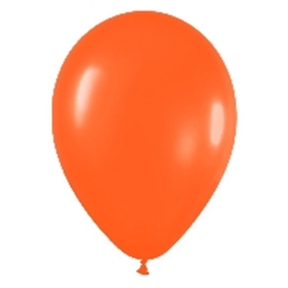 Globos Naranja Solido R12 de 30 cm aprox (50 ud)