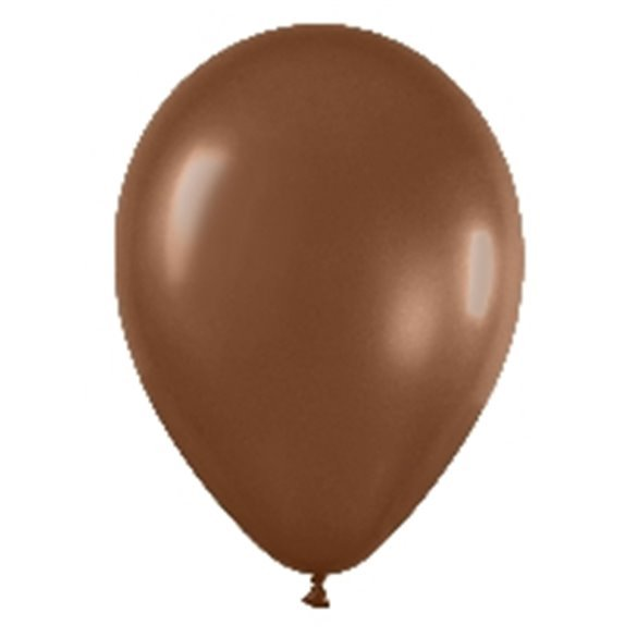 Globos Chocolate Solido R12 de 30 cm aprox (50 ud)