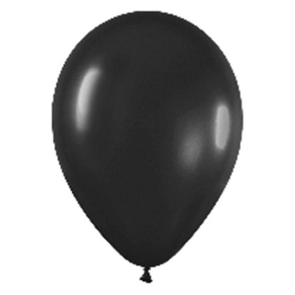 Globos Negro Solido R12 de 30 cm aprox (50 ud)