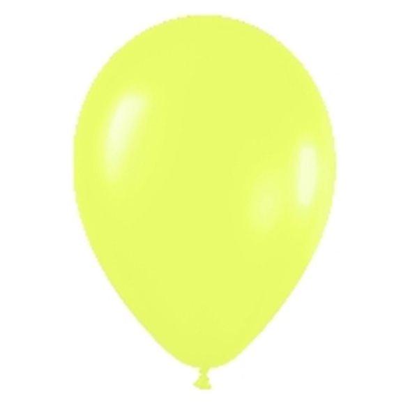 Globos Amarillo Neon R12 de 30 cm aprox (50 ud)