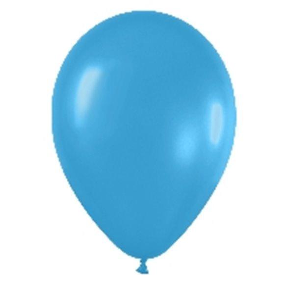 Globos Azul Neon R12 de 30 cm aprox (50 ud)