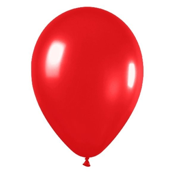 Globos Rojo Metalizado R12 de 30 cm aprox (50 ud)