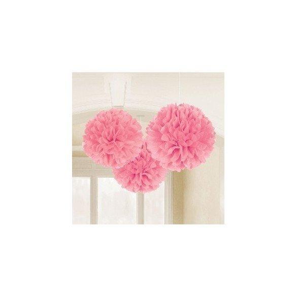 ✅Fluffy PomPom Colgante Color Rosa (Contiene: 1 x 40cm, 1 x 33cm, 1 x 23cm) por solo 8,05€ en Masfiesta.es. Venta de Artícul...