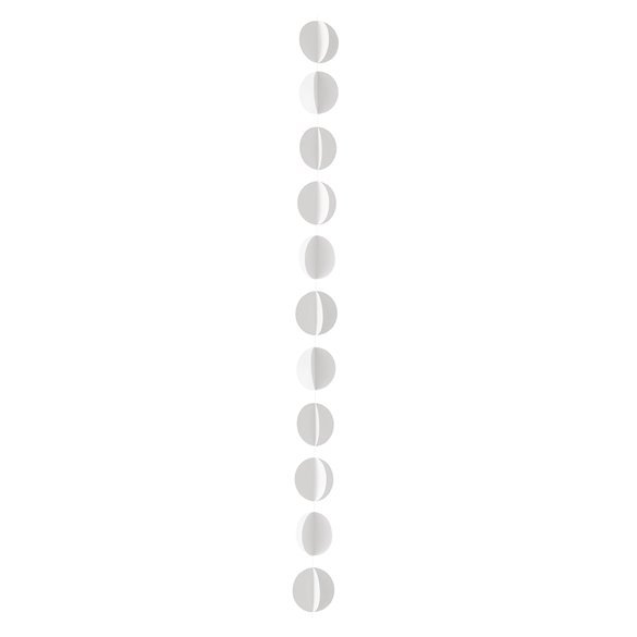 Guirnalda Circulos Blanco (3Metros)