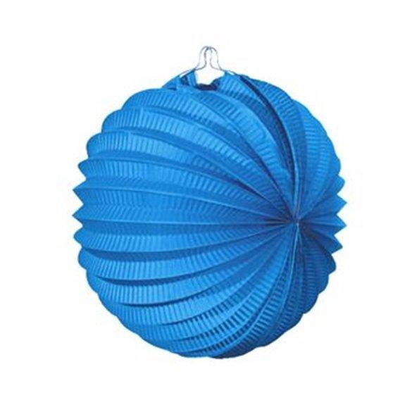 Farolillo de papel color Azul Celeste, de 22 cm.