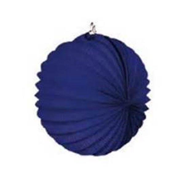 Farolillo de papel color Azul Oscuro, de 22 cm.