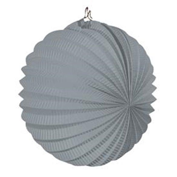 Farolillo de papel color Gris, de 22 cm.