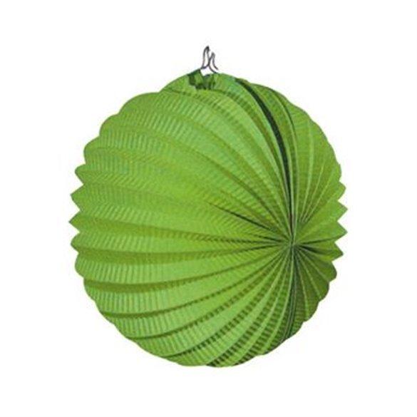 Farolillo de papel color Verde, de 22 cm.
