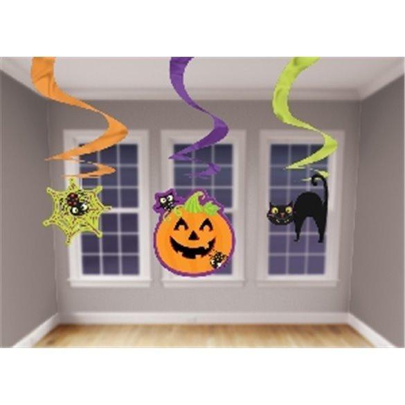 Decoracion colgante espirales Halloween (3)