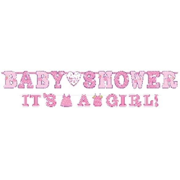 Banderin letras baby shower girl (2uds)