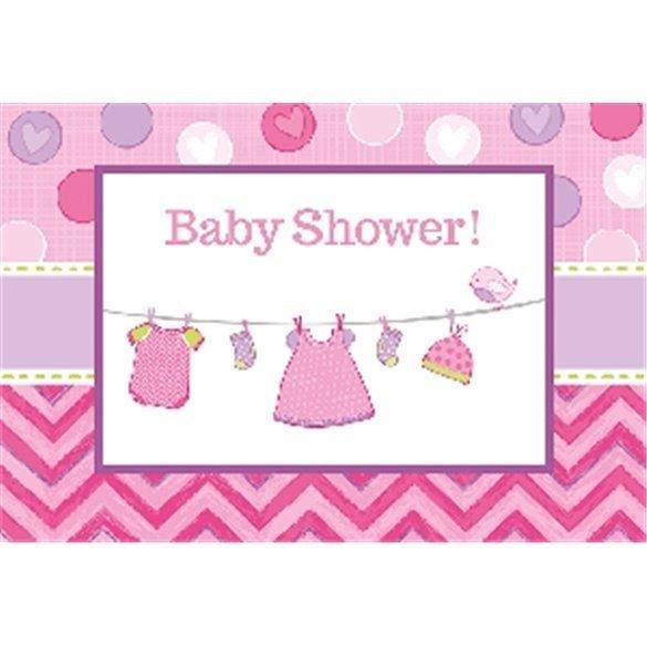 Invitaciones (8) Baby showerGirl