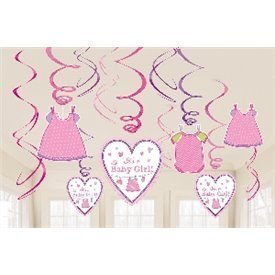 Decoracion Colgante (6x2) Baby Girl